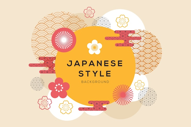 Geometrical background in japanese style Premium Vector
