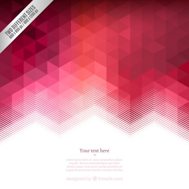 Geometrical background in red tones Free Vector