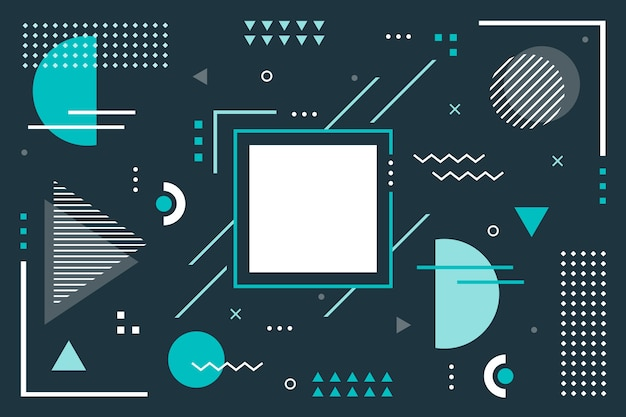 Geometrical background with flat shapes Free Vector