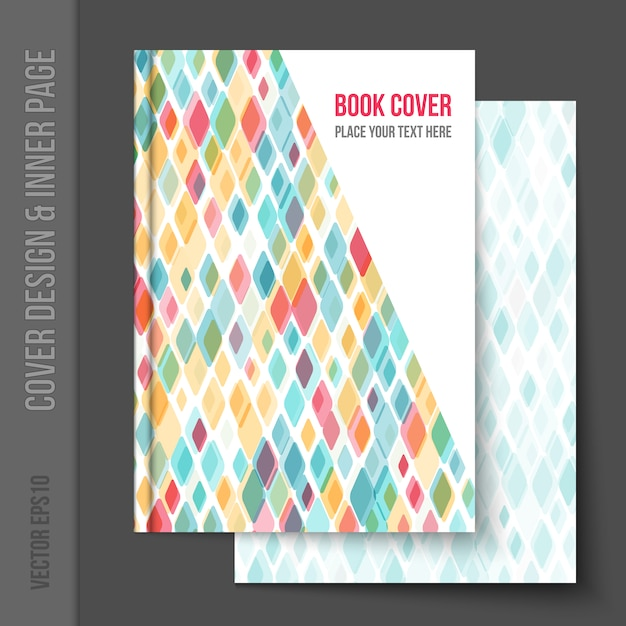 Book Cover Freepik ~ Geometrical book cover design vector free download