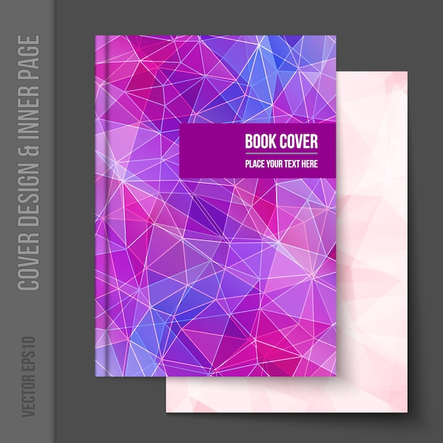 Book Cover Design Free Download : Geometrical book cover design vector free download