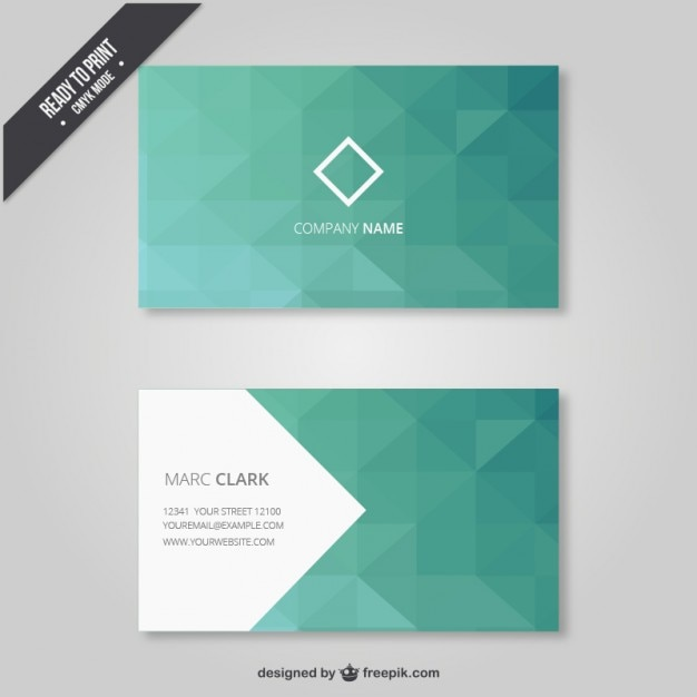 Geometrical business card in green tones vector free download geometrical business card in green tones free vector reheart Gallery