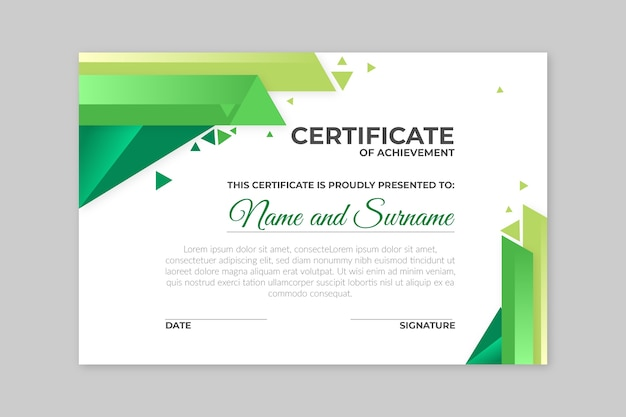 Geometrical concept for certificate Free Vector