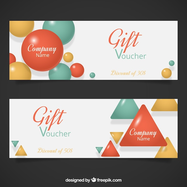 Geometrical gift voucher template vector free download geometrical gift voucher template free vector yelopaper Image collections