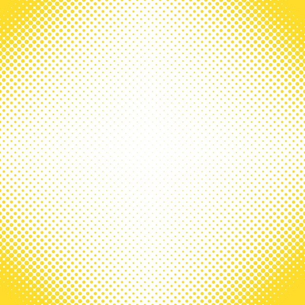 Geometrical halftone dot pattern background - vector design from circles in varying sizes Free Vector