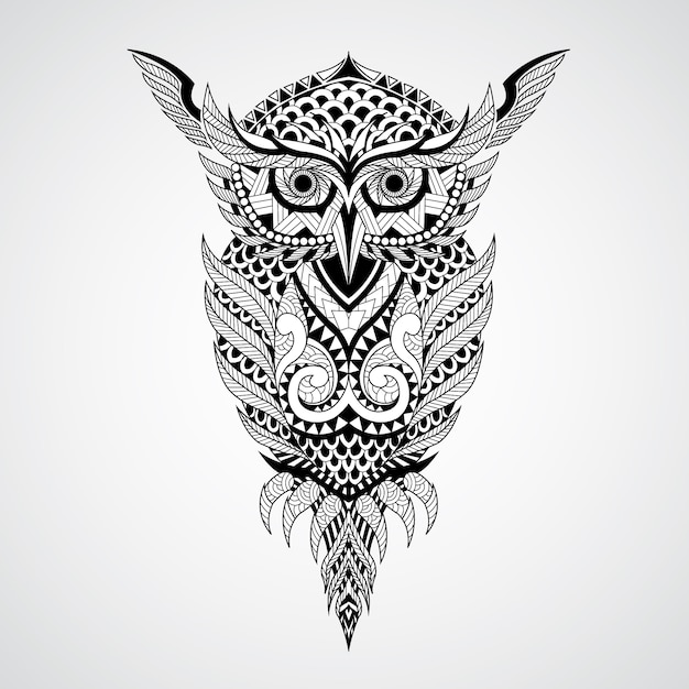 Geometrical owl design background Free Vector