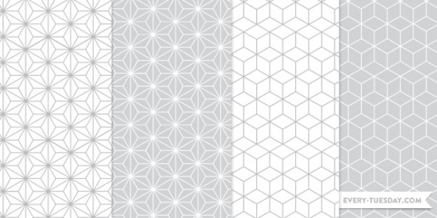 Geometrical seamless photoshop patterns Vector | Free Download