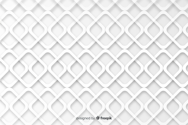 Geometrical shapes in paper style background Free Vector