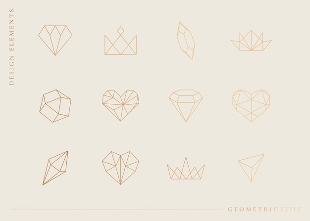 Geometrical shapes set Free Vector