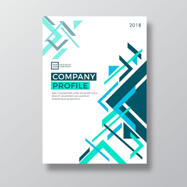 Geometry abstract design company profile template vector premium geometry abstract design company profile template premium vector cheaphphosting Choice Image