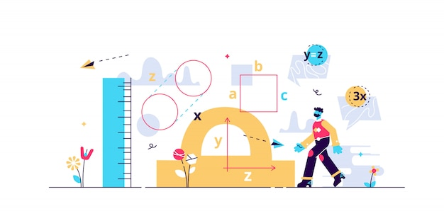 Geometry  illustration. Premium Vector