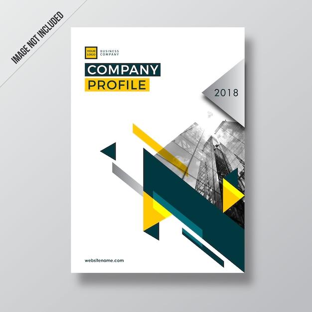 Geometry Style Design Company Profile Design Vector