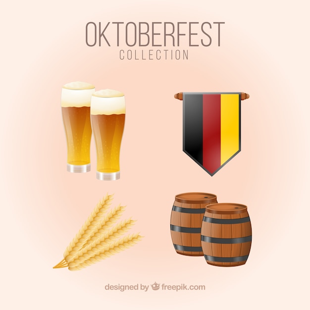 German beer and flag