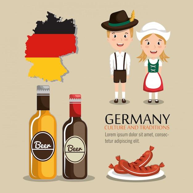 German culture design Free Vector