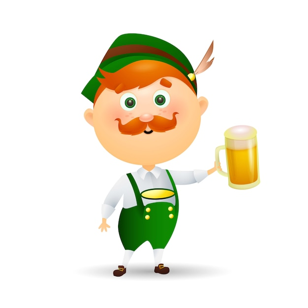 German man with beer Free Vector