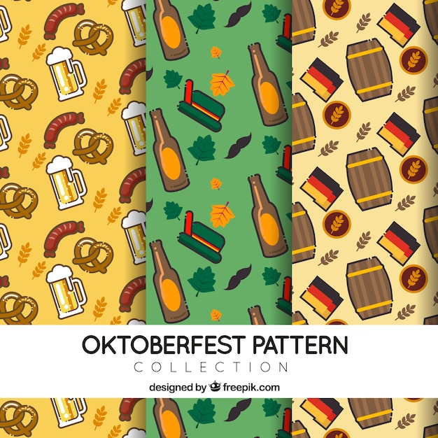 German patterns for oktoberfest