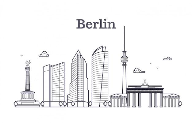 Germany berlin line vector landscape Premium Vector