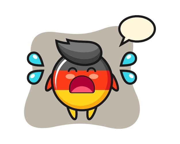 Мультфильм значок флага германии с жестом плача Premium векторы