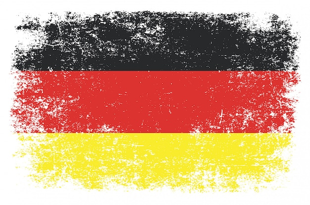 Germany flag in grunge style Premium Vector