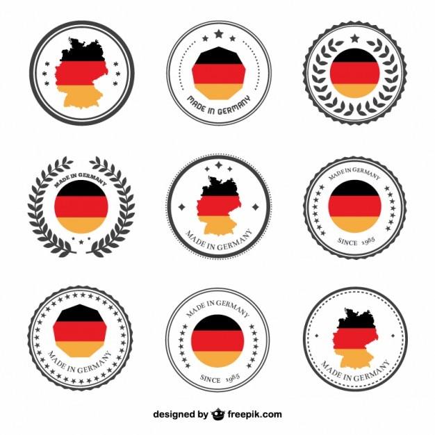 Germany labels Premium Vector
