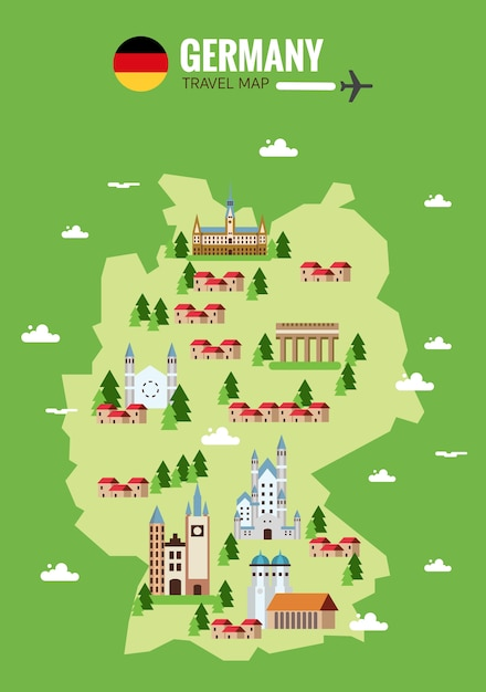 Germany Map Background Vector Premium Download - Germany map cartoon