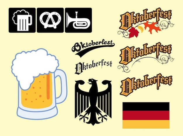 Germany Oktoberfest graphic elements vector