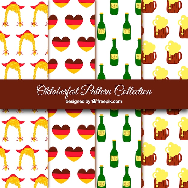 Germany and oktoberfest pattern collection Free Vector