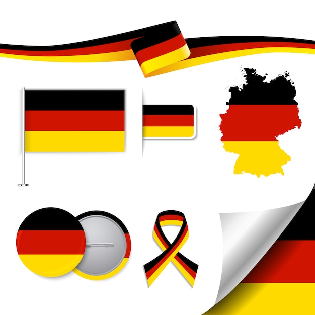 Germany representative elements collection Free Vector