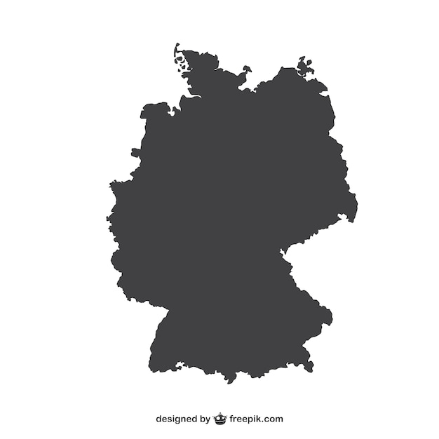 Germany Silhouette Vector Free Download - Germany map download