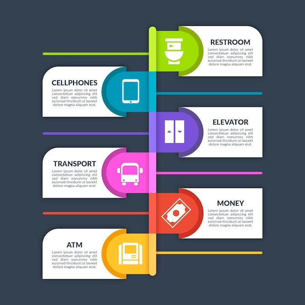 Germs hot spots infographic and text boxes Premium Vector