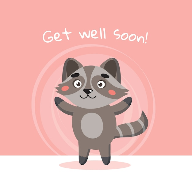 Get well soon concept Free Vector