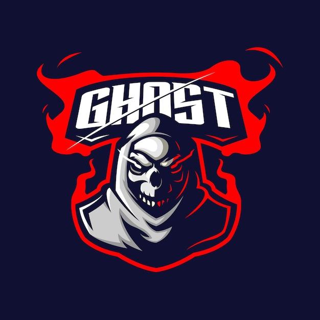 Ghost E 스포츠 로고 프리미엄 벡터