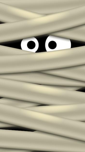 Ghost eyes image Premium Vector
