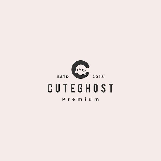 Ghost logo vector icon illustration Premium Vector