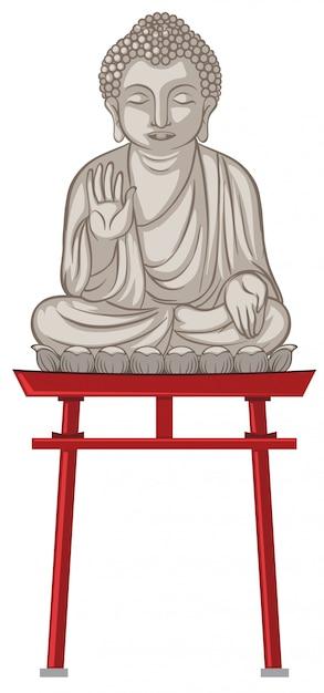 Giant buddha statue in japan Premium Vector