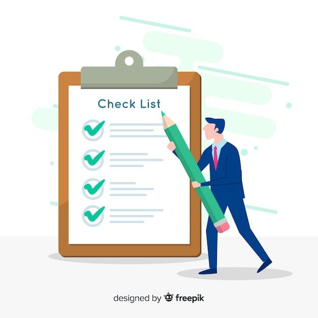 Giant check list Free Vector