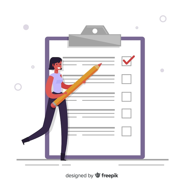 Giant checklist Free Vector