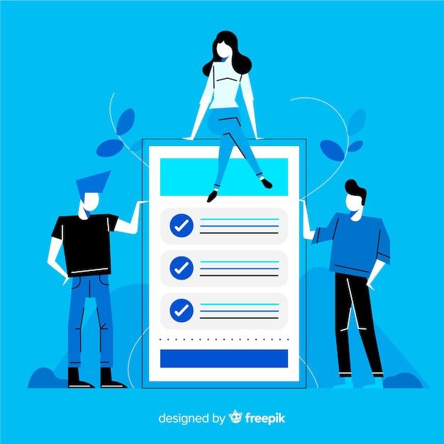Giant checklist Free Vector