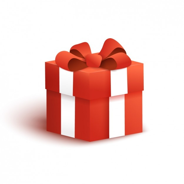 Gift box design Free Vector