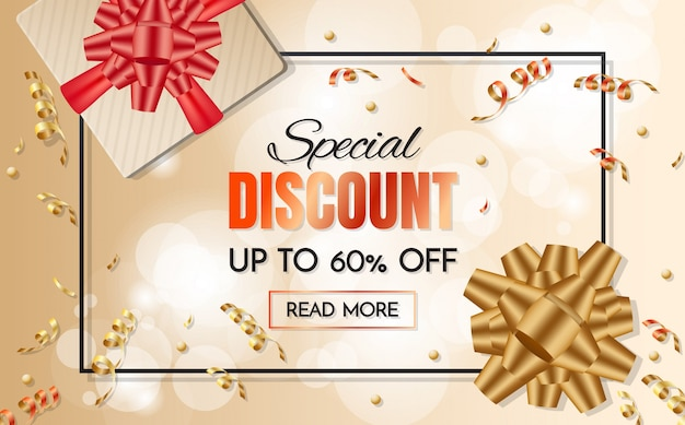 Free Vector Gift Box Sale Template Banner Vector Background