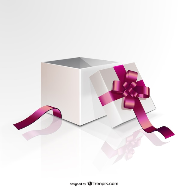 Gift box with pink ribbon vector free download gift box with pink ribbon free vector negle Choice Image