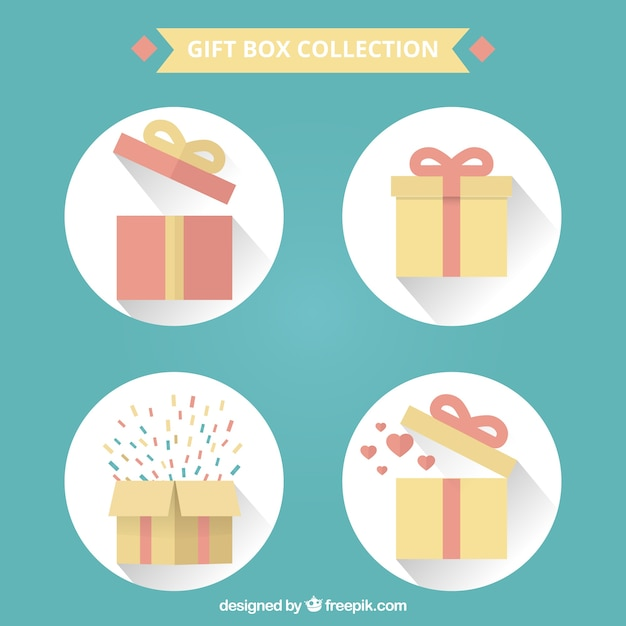 Gift boxes collection Free Vector  sc 1 st  Freepik & Gift boxes collection Vector | Free Download Aboutintivar.Com