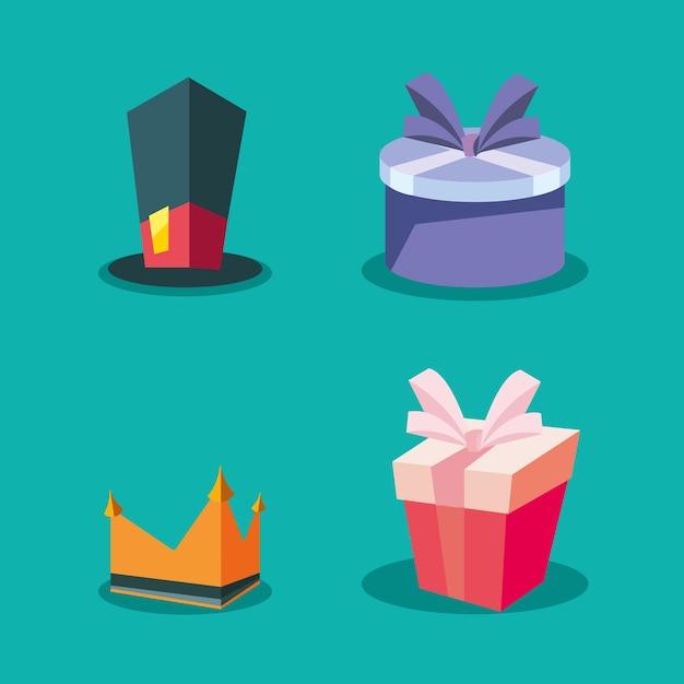 Gift boxes design Premium Vector