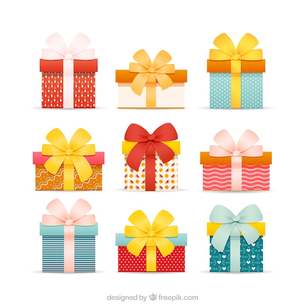 Gift boxes vector premium download gift boxes premium vector negle Choice Image