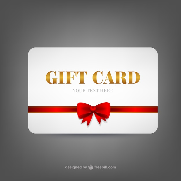 Gift Card Template Free Vector