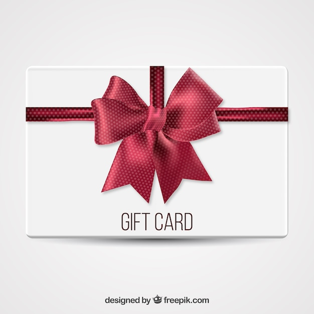 Gift card with a big bow vector free download gift card with a big bow free vector yadclub Image collections