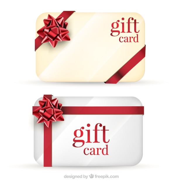 gift cards pack vector free download