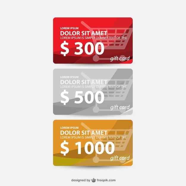 Gift cards set vector free download gift cards set free vector yadclub Image collections