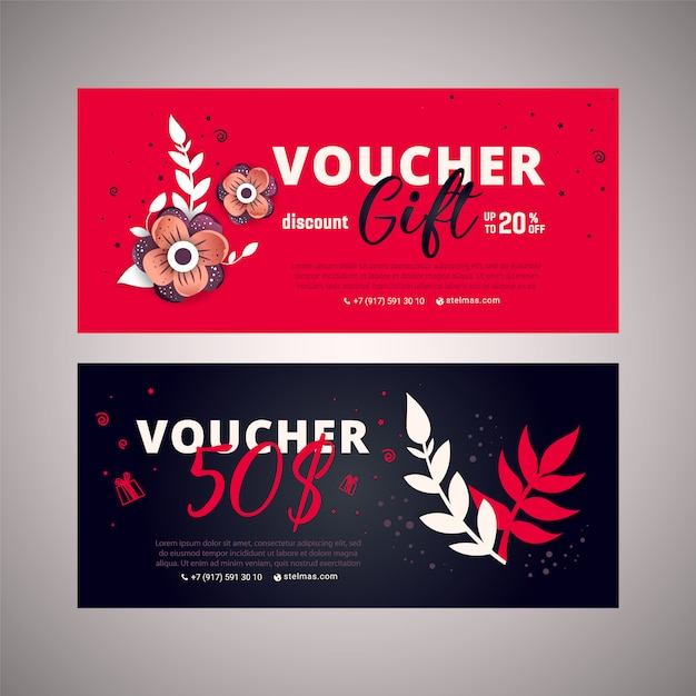 Gift certificate, coupon template with mother day text on gradient background. Premium Vector