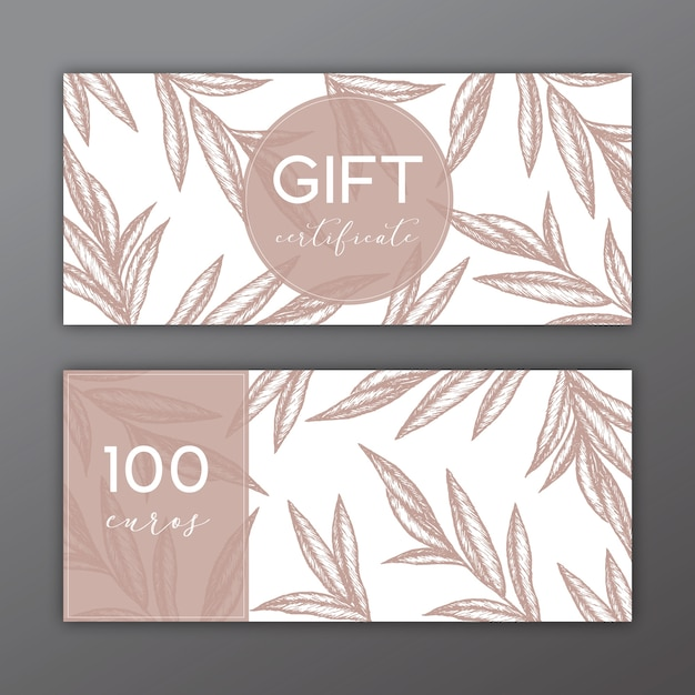 Gift certificate template with hand drawn illustrations vector gift certificate template with hand drawn illustrations free vector yelopaper Image collections